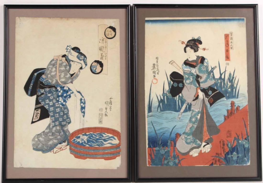Two Japanese Wood Block Prints