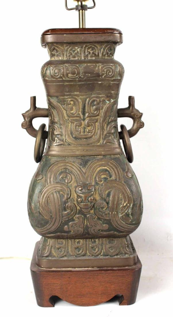 Pair of Chinese Bronze Vases - 6