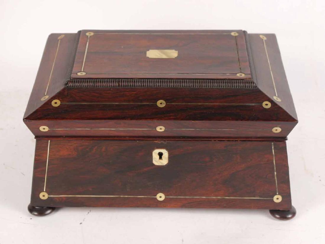 Regency Style Mahogany Document Box