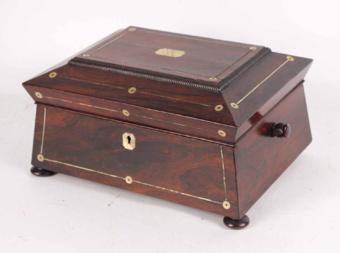 Regency Style Mahogany Document Box - 2