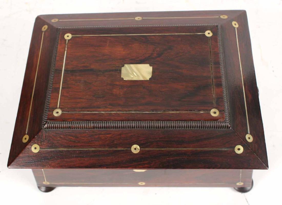 Regency Style Mahogany Document Box - 6