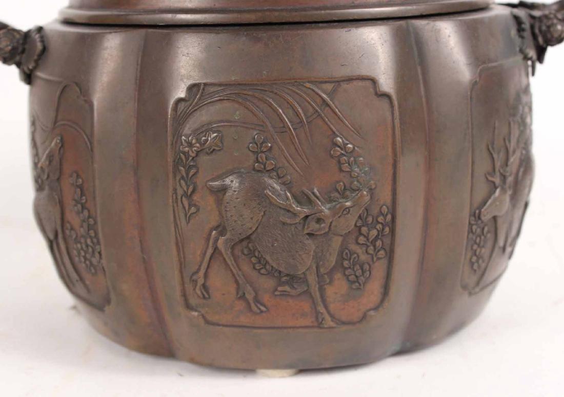 Chinese Bronze Incense Burner - 2