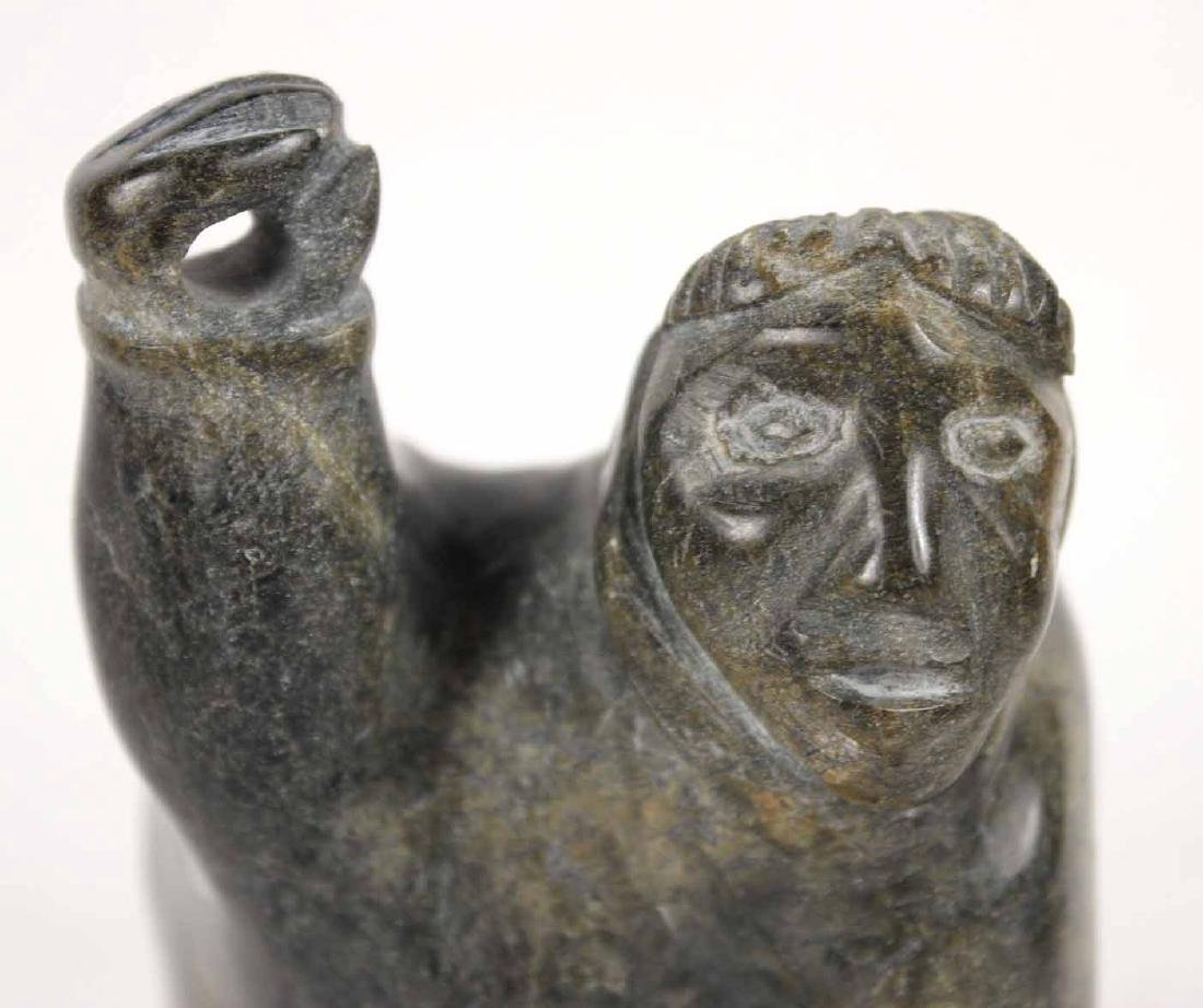 Inuit Carved Stone Sculpture - 3