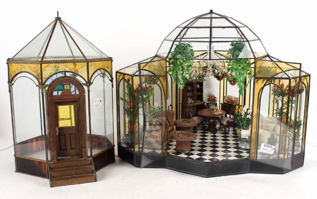 Diorama in Glass Atrium with Furnishings