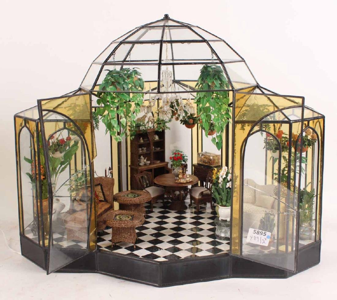 Diorama in Glass Atrium with Furnishings - 2