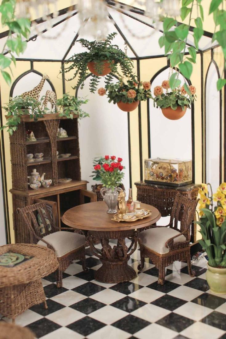 Diorama in Glass Atrium with Furnishings - 3