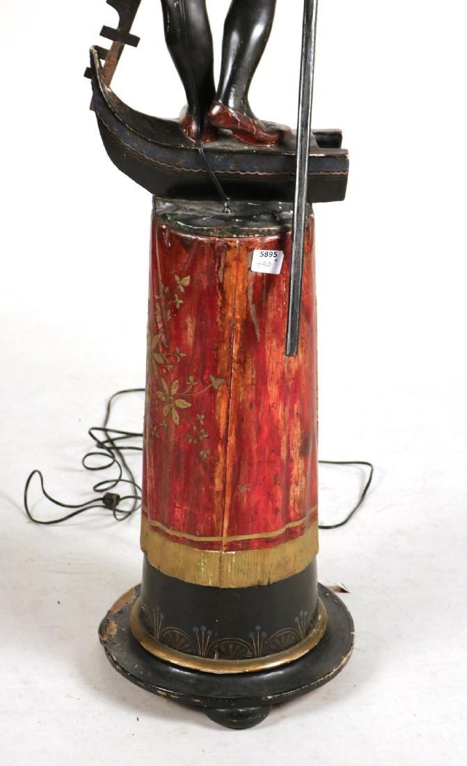 Painted Blackamoor Floor Lamp - 10
