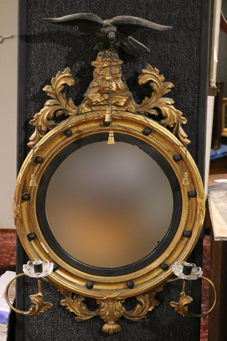 Classical Style Gilt-Composition Convex Mirror
