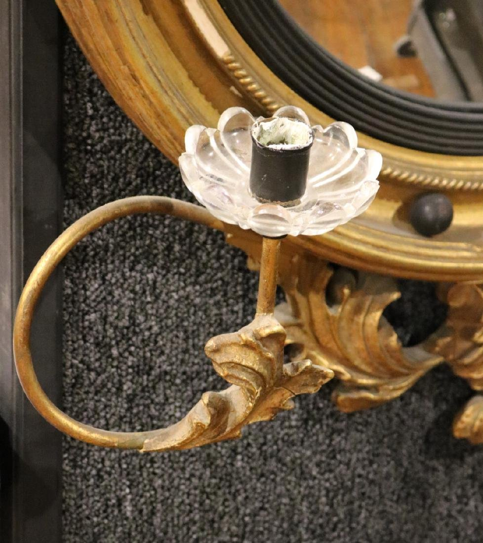 Classical Style Gilt-Composition Convex Mirror - 3