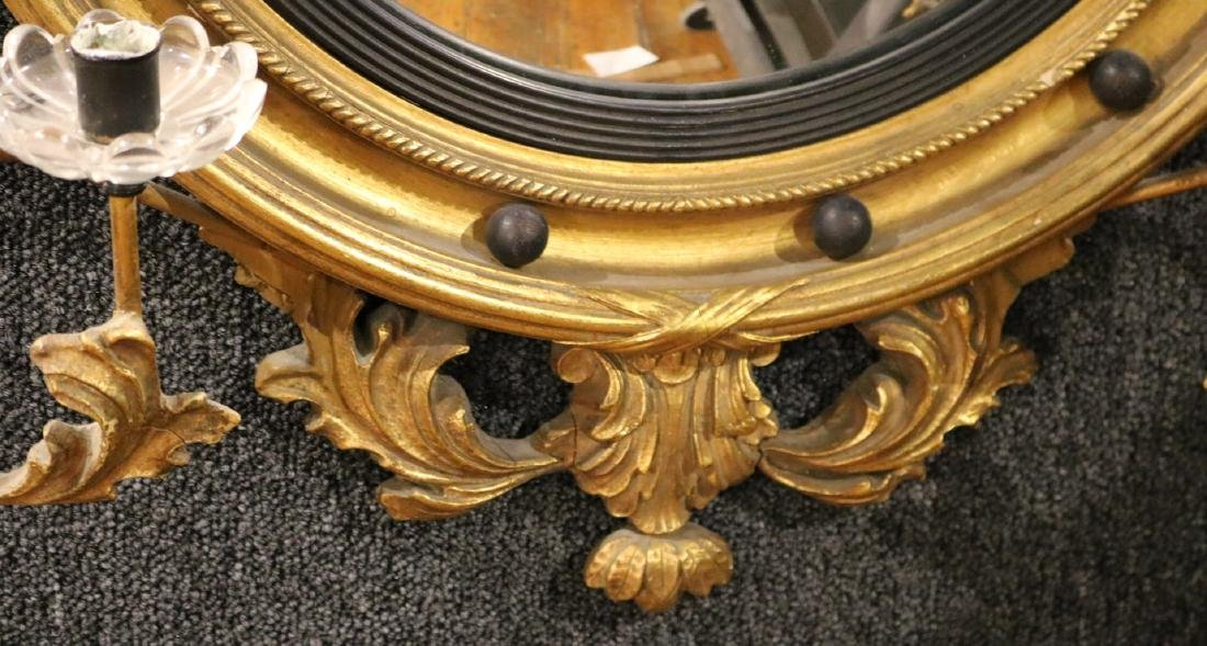 Classical Style Gilt-Composition Convex Mirror - 4