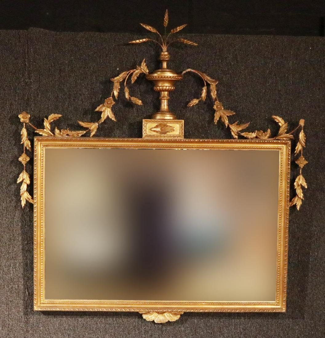 Neoclassical Giltwood Overmantel Mirror