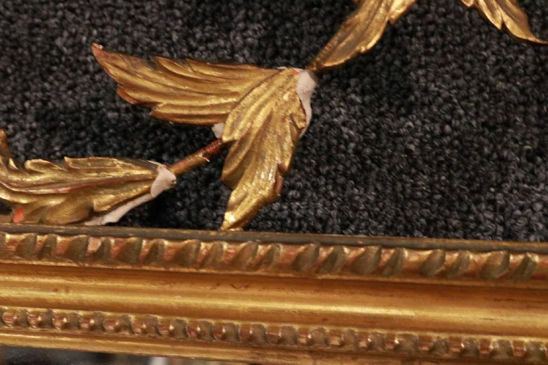 Neoclassical Giltwood Overmantel Mirror - 6