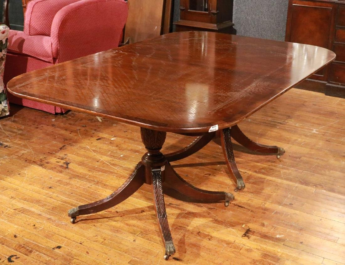Regency Style Inlaid Mahogany Dining Table