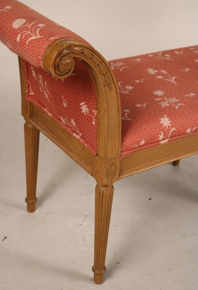 Louis XVI Style Beechwood Window Seat - 2