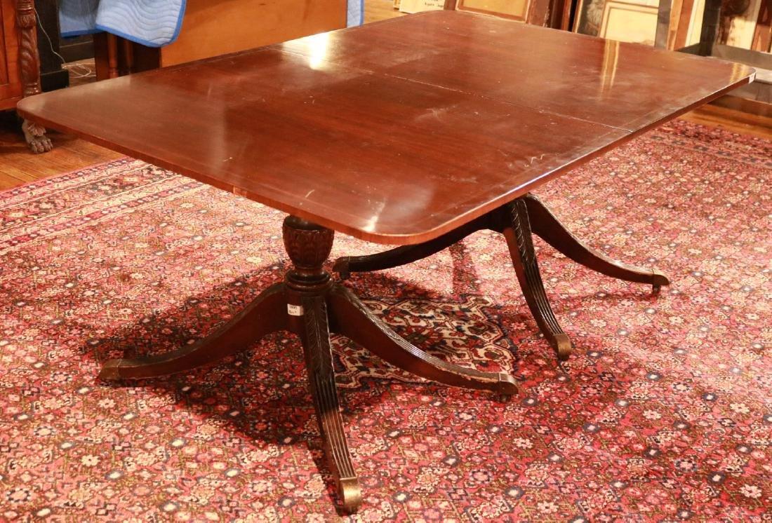Regency Style Inlaid Mahogany Dining Table