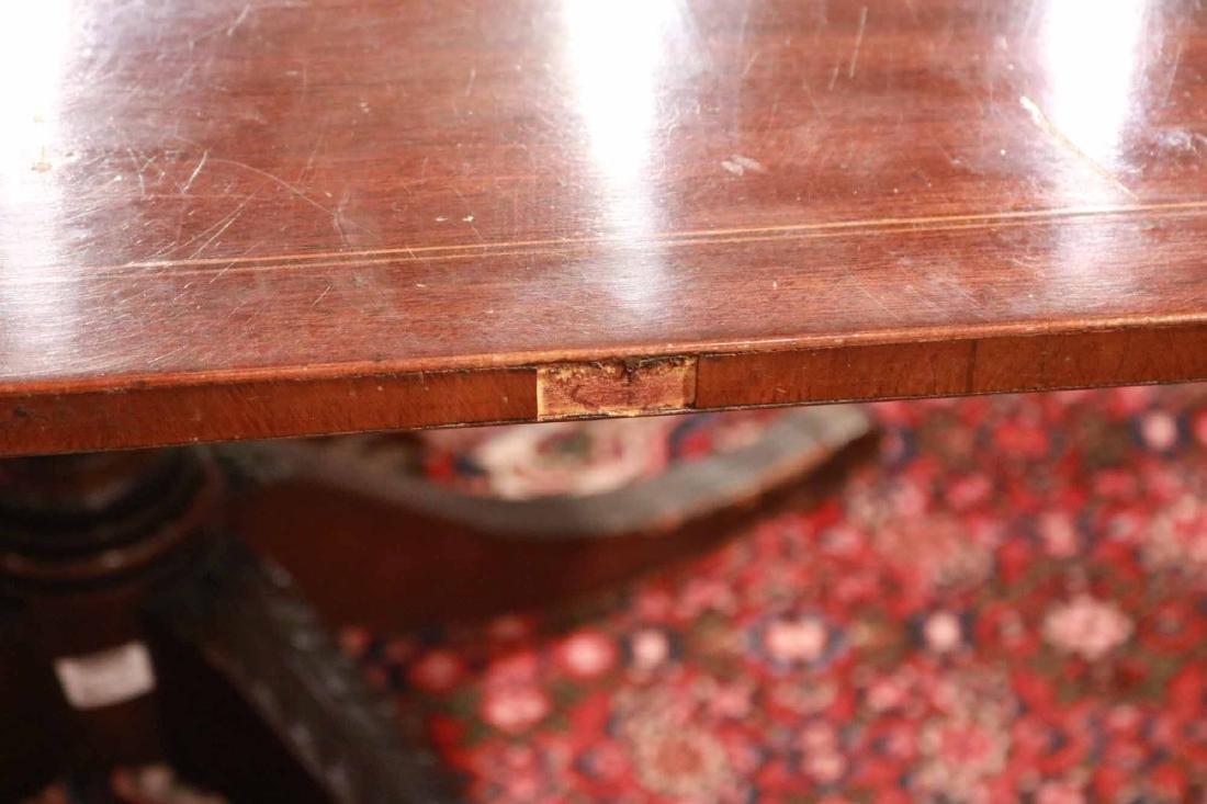 Regency Style Inlaid Mahogany Dining Table - 2