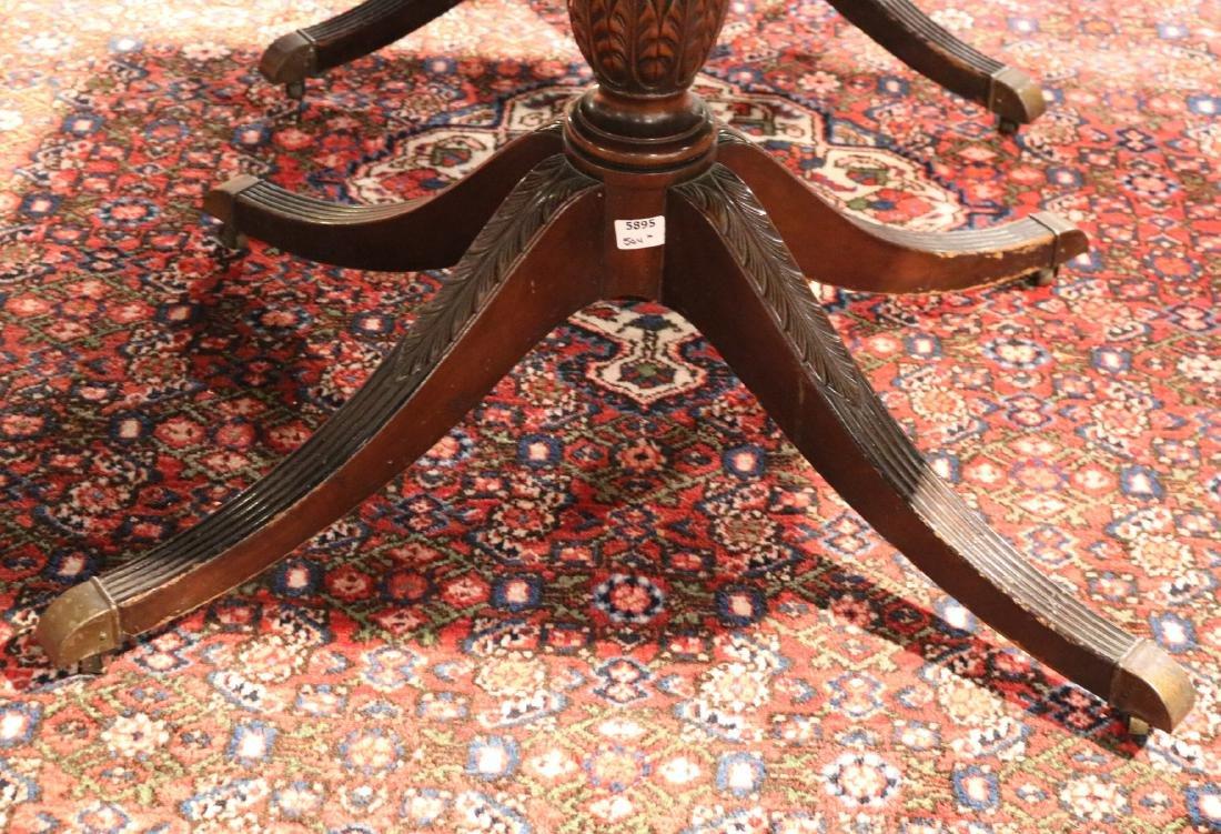 Regency Style Inlaid Mahogany Dining Table - 4