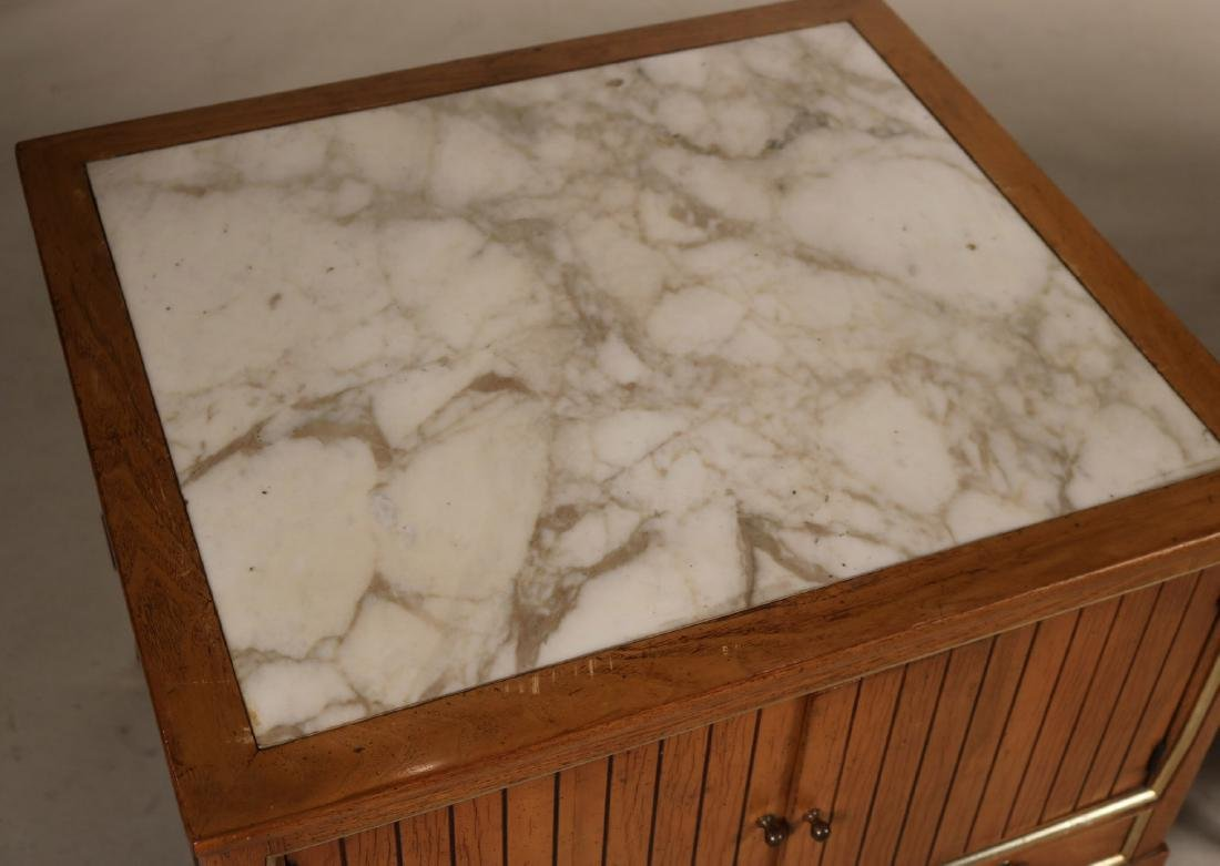 Pair of Mid-Century Modern Marble-Top Side Tables - 3