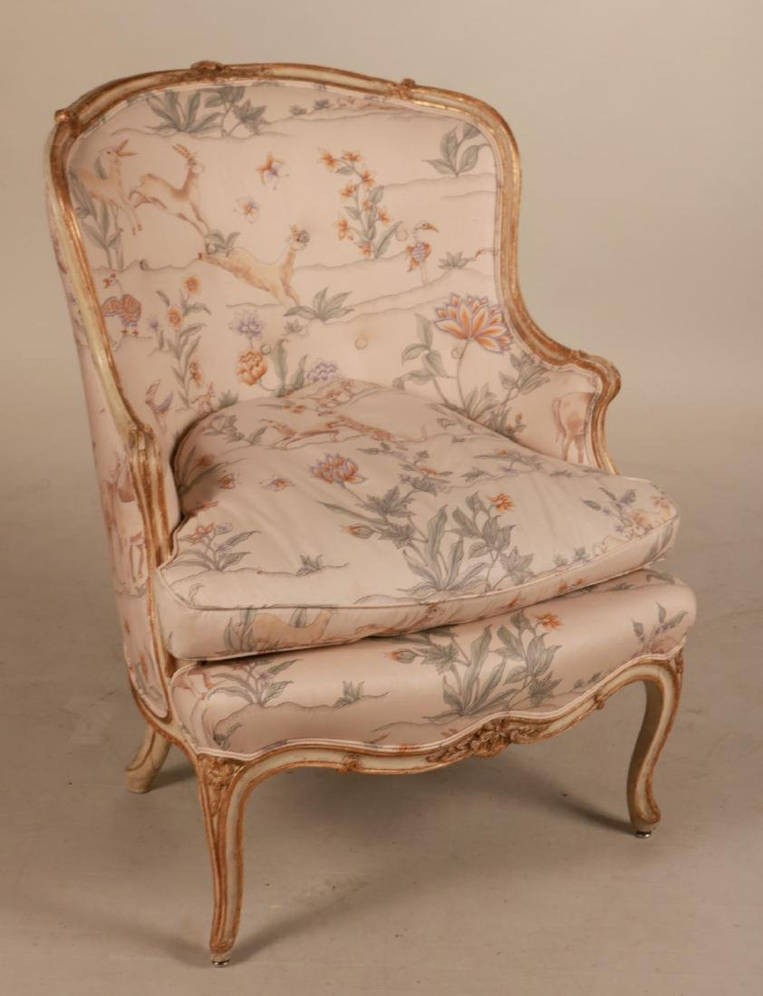 Louis XV Style Paint-Decorated Bergere
