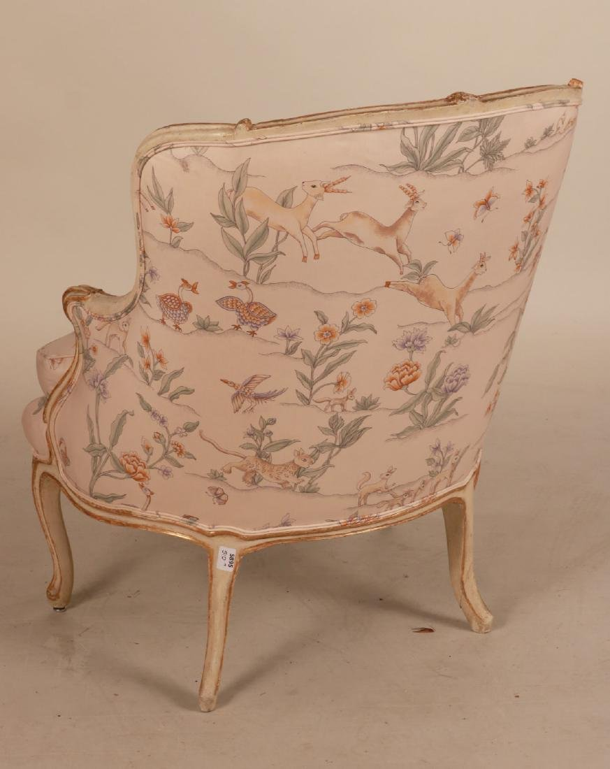 Louis XV Style Paint-Decorated Bergere - 6