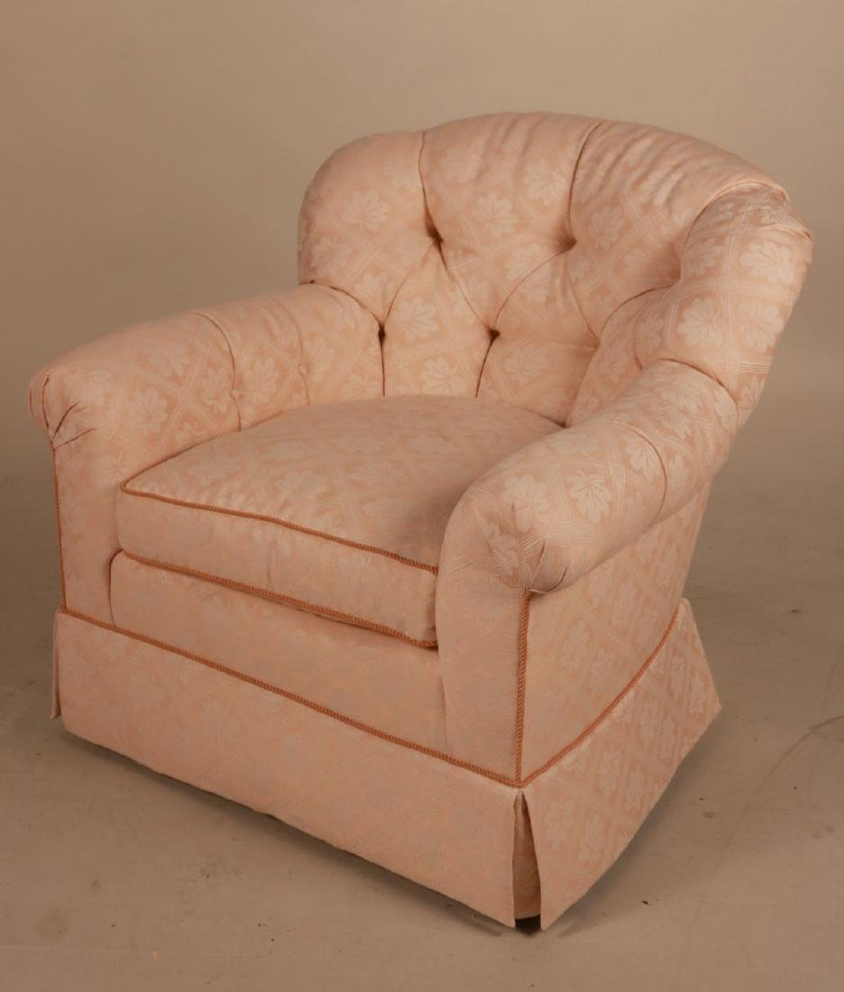 Two Pink-Upholstered Club Chairs - 6