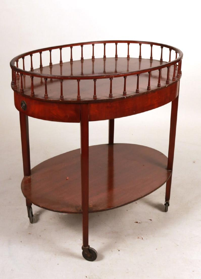Federal Style Mahogany Drinks Cart