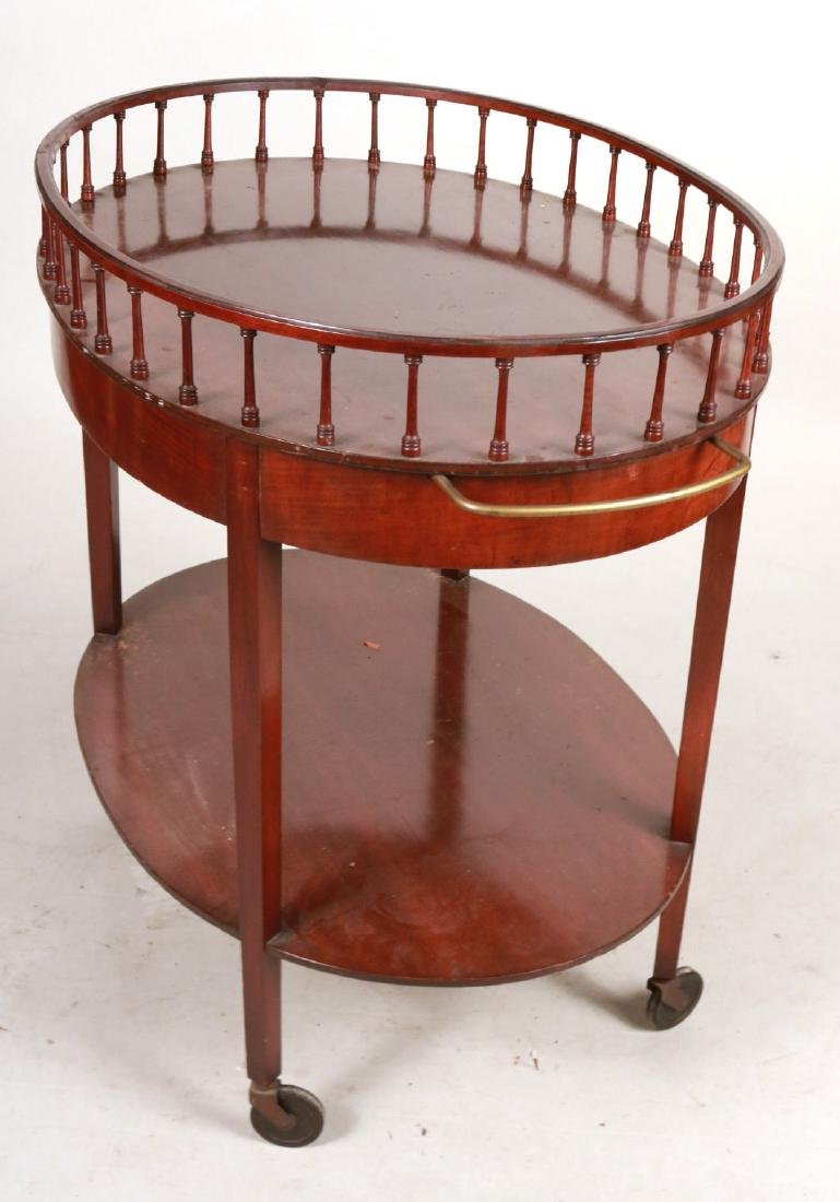 Federal Style Mahogany Drinks Cart - 6