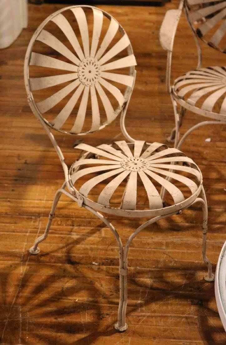 Ten White-Painted Metal Garden Chairs - 5