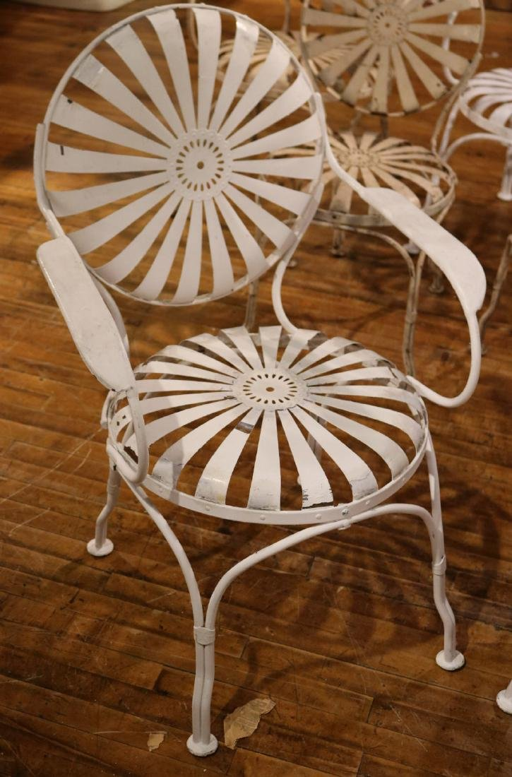 Ten White-Painted Metal Garden Chairs - 9
