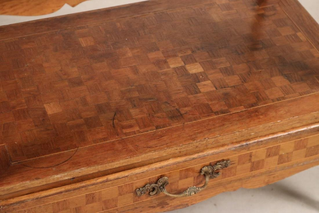 Louis XV Style Marble Top Inlaid Side Table - 3