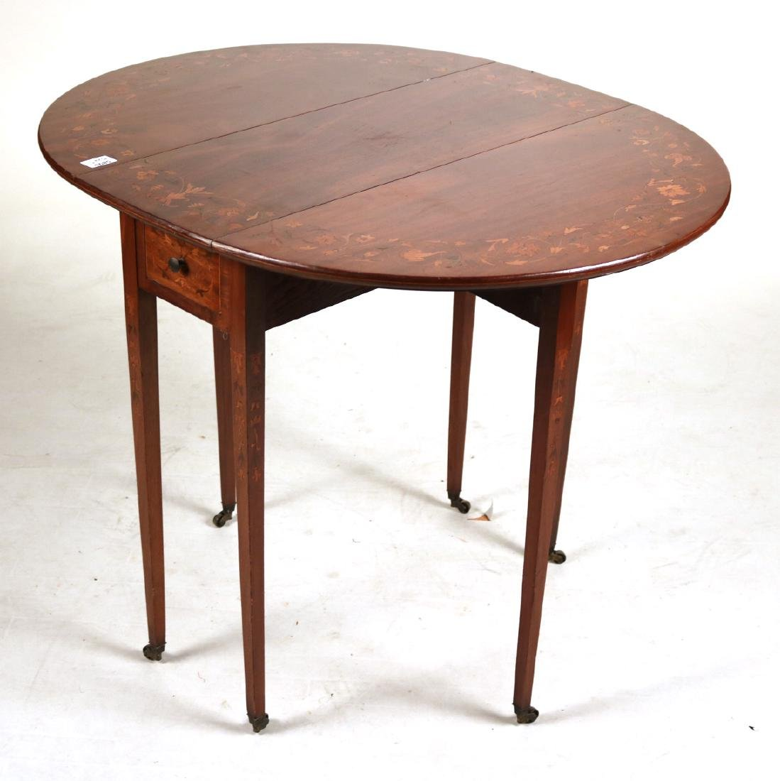 Neoclassical Style Mahogany Drop-Leaf Table - 2