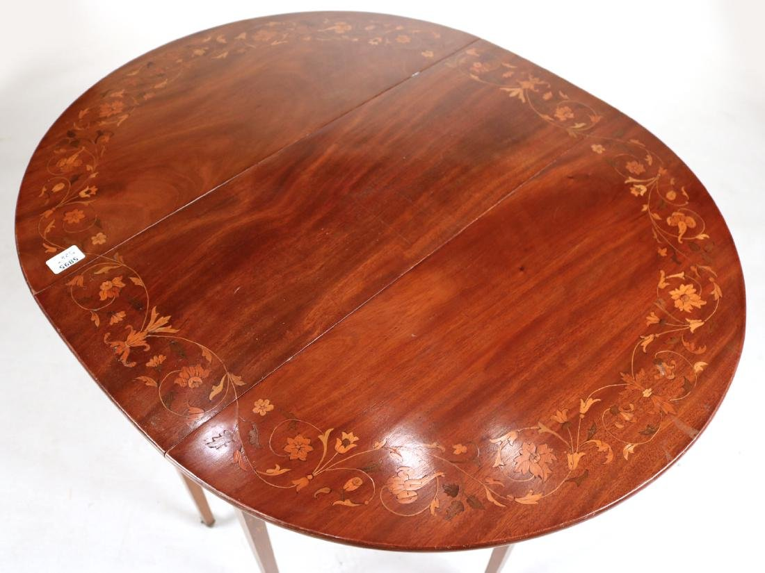 Neoclassical Style Mahogany Drop-Leaf Table - 3