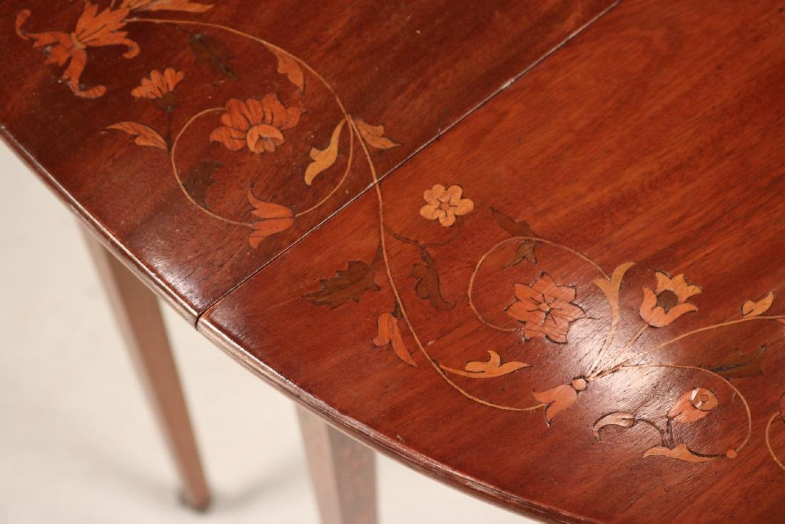 Neoclassical Style Mahogany Drop-Leaf Table - 4