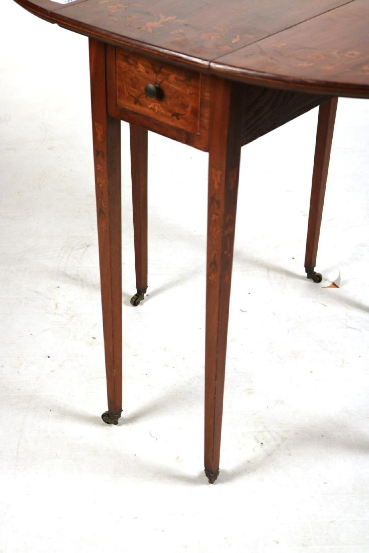 Neoclassical Style Mahogany Drop-Leaf Table - 5