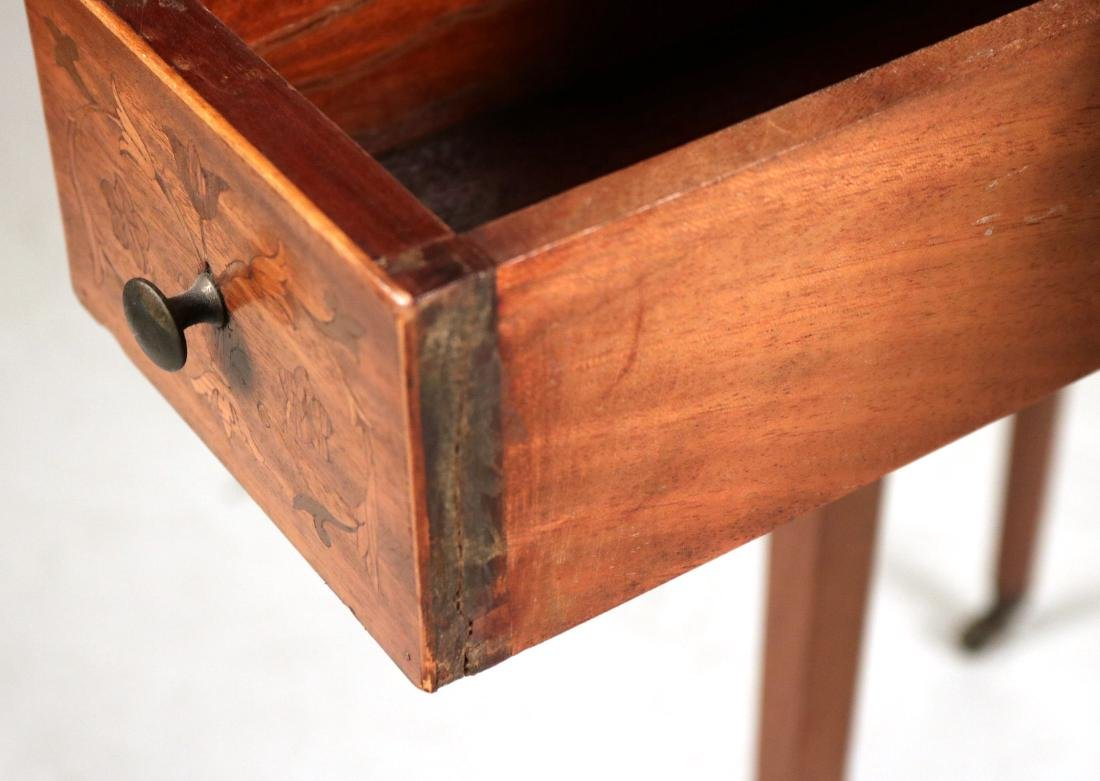 Neoclassical Style Mahogany Drop-Leaf Table - 6