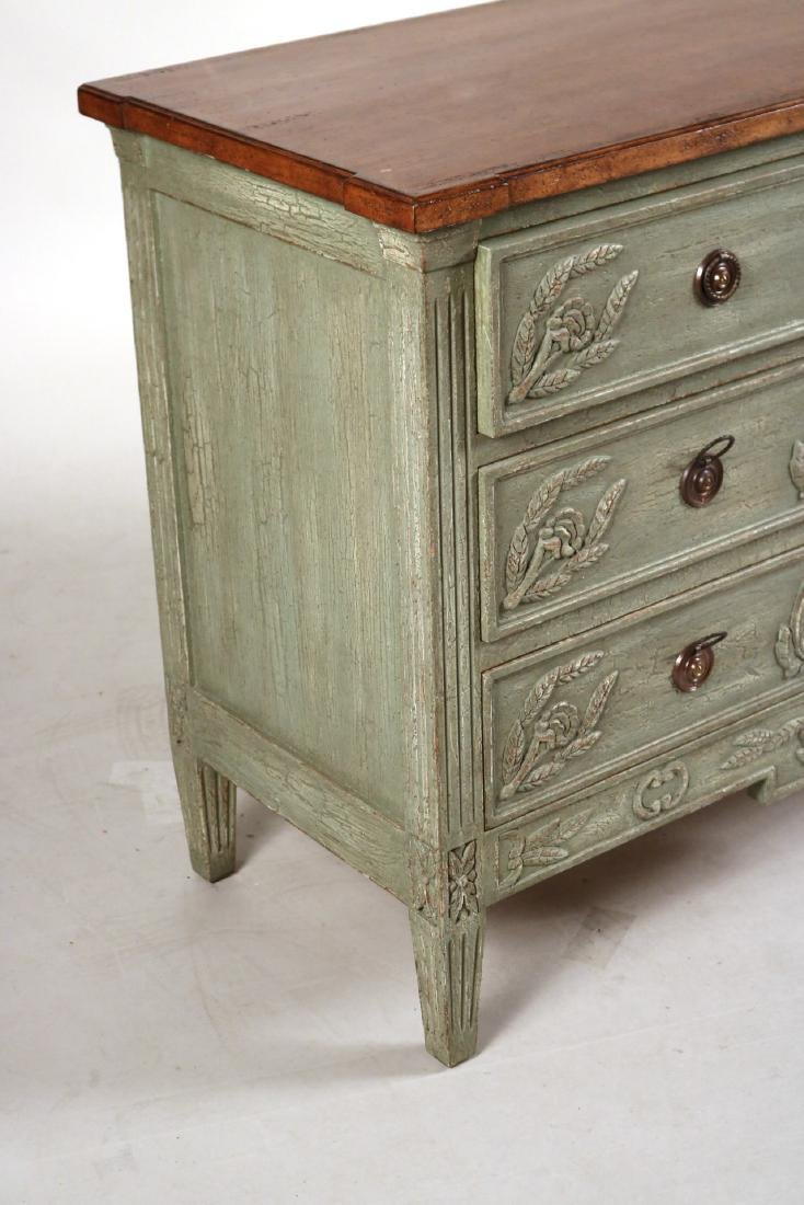 Neoclassical Style Green-Painted Chest of Drawers - 2