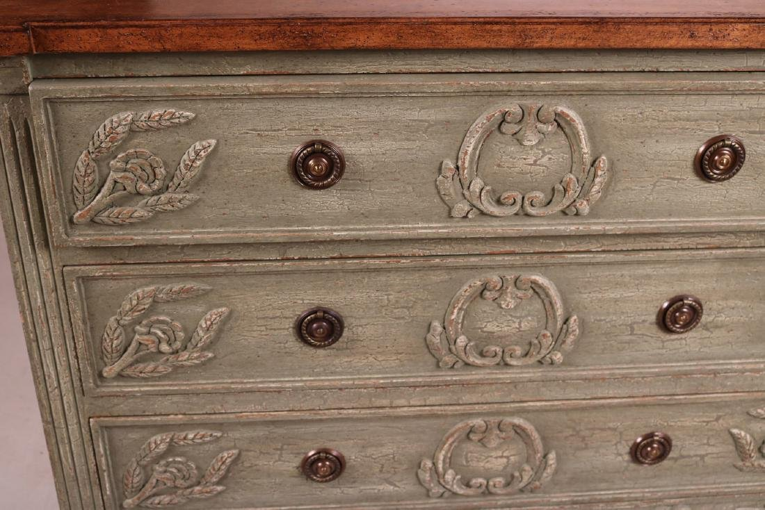 Neoclassical Style Green-Painted Chest of Drawers - 6
