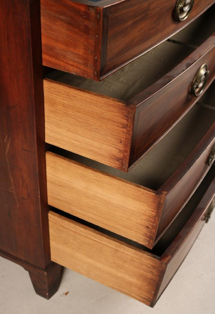 Federal Style Inlaid Mahogany Chest of Drawers - 6