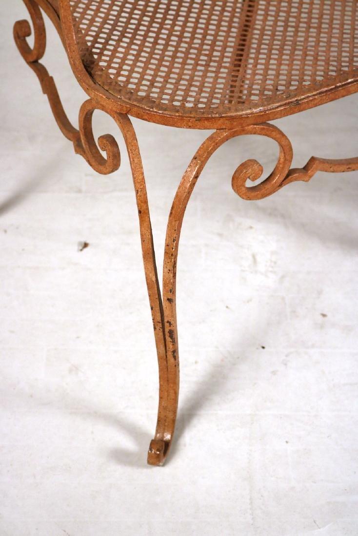 Pair of Painted-Metal Garden Armchairs - 3