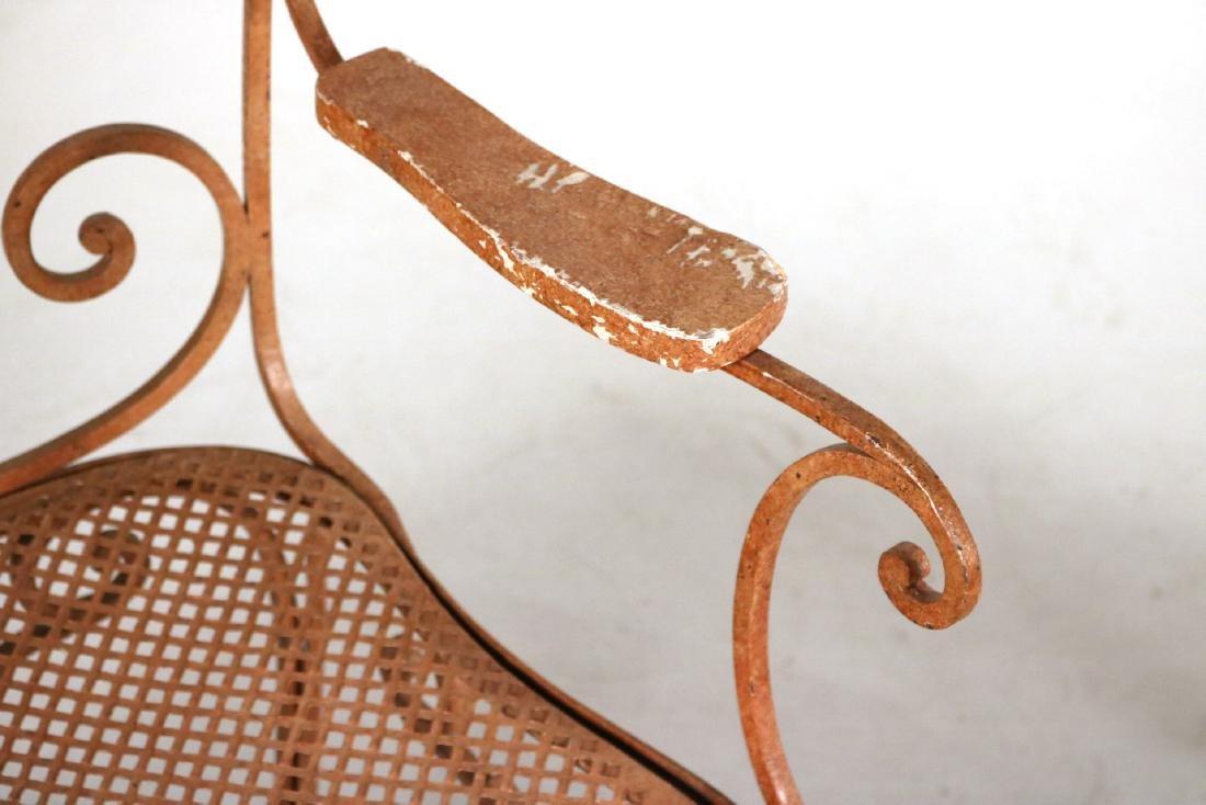 Pair of Painted-Metal Garden Armchairs - 4