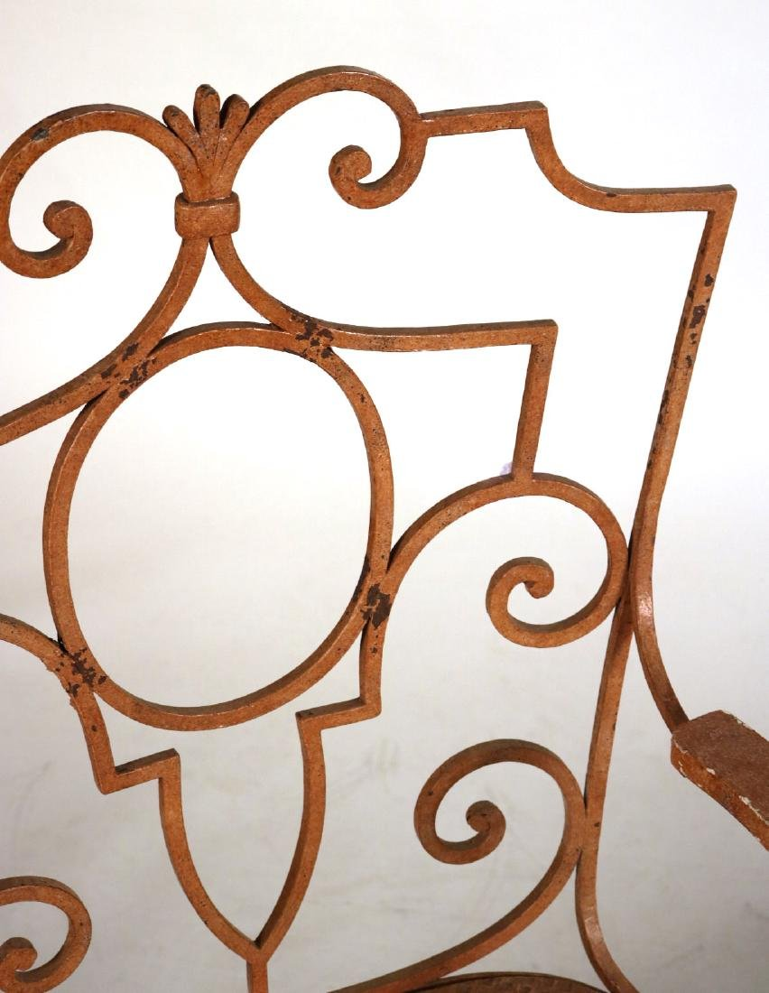 Pair of Painted-Metal Garden Armchairs - 6