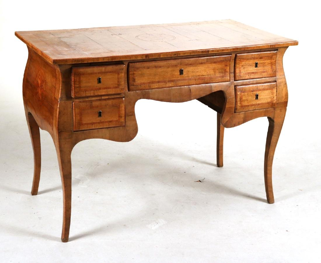 Neoclassical Marquetry Inlaid Writing Desk