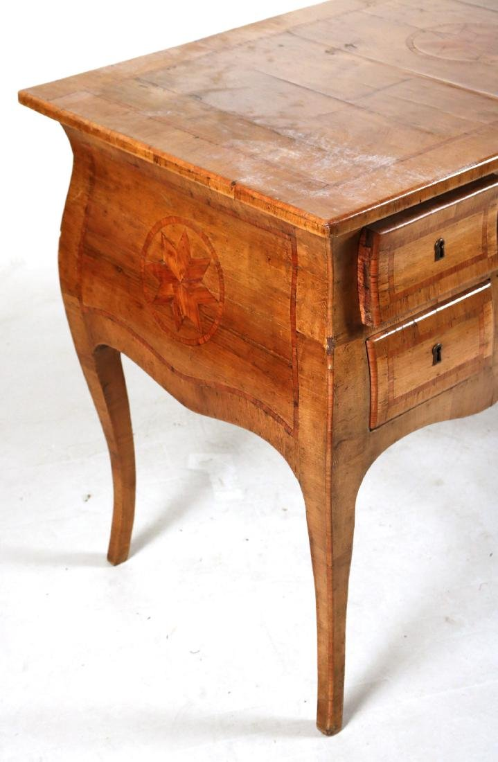 Neoclassical Marquetry Inlaid Writing Desk - 2