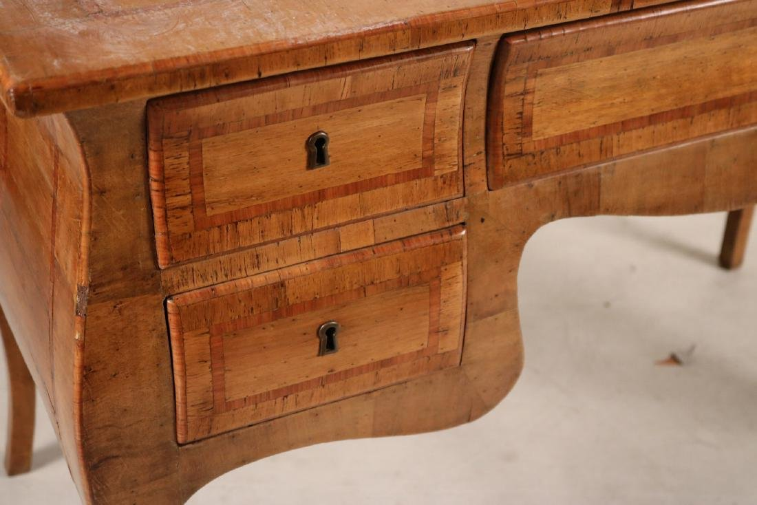Neoclassical Marquetry Inlaid Writing Desk - 6