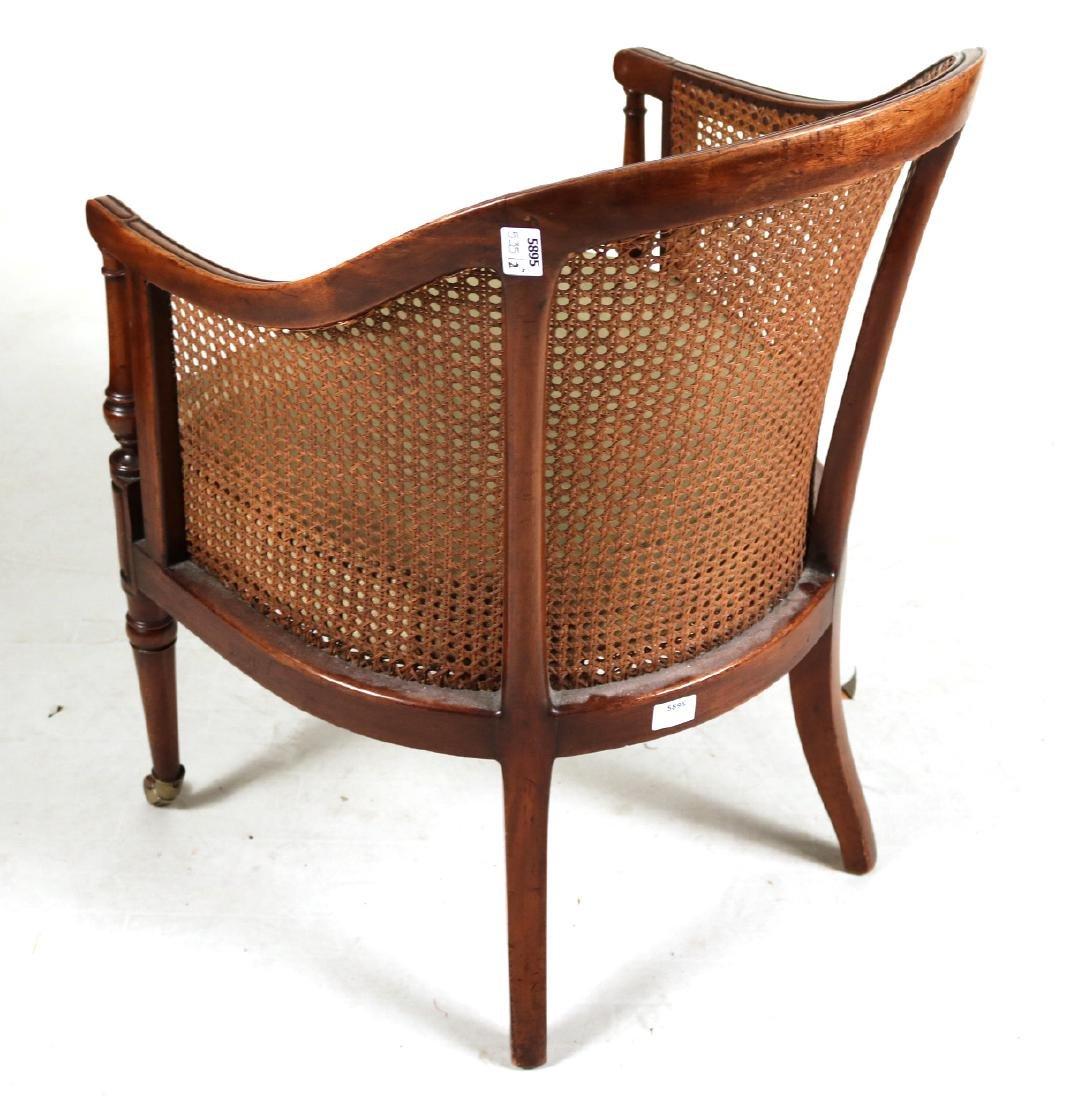Regency Mahogany Barrel-Back Armchair - 10