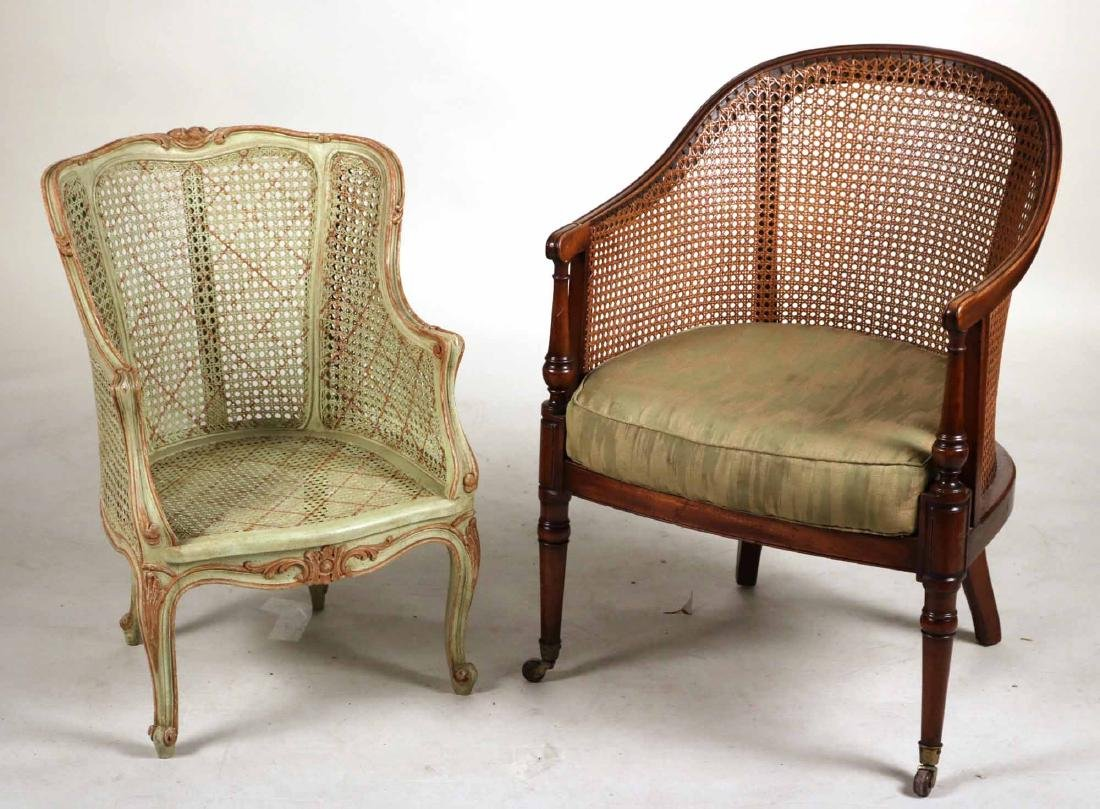 Regency Mahogany Barrel-Back Armchair
