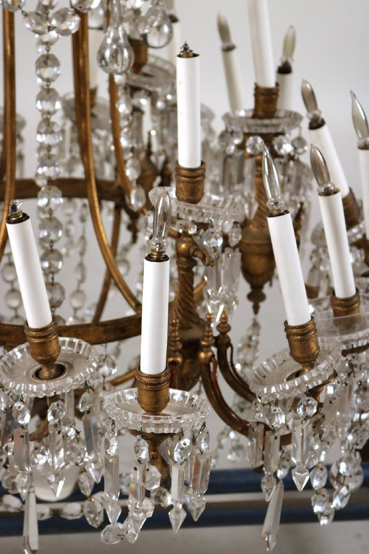 Louis XVI Style Gold-Painted & Crystal Chandelier - 4