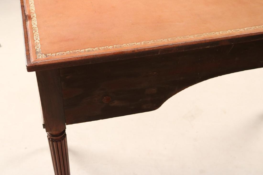 Regency Style Leather-Inset Mahogany Writing Desk - 10