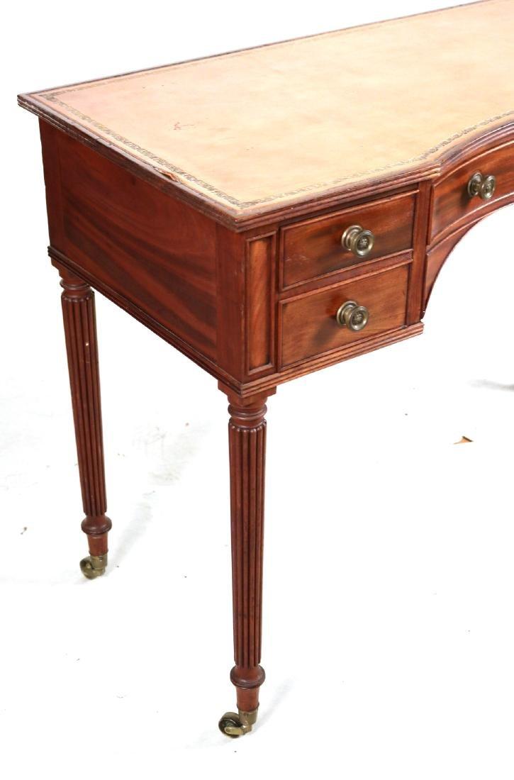 Regency Style Leather-Inset Mahogany Writing Desk - 2