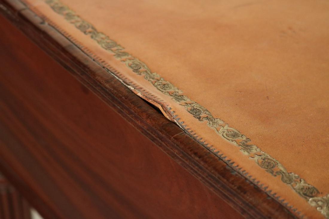 Regency Style Leather-Inset Mahogany Writing Desk - 3
